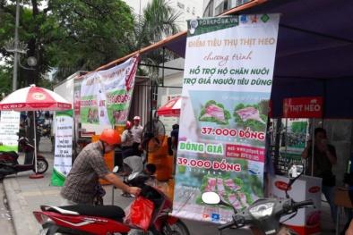 Mở 2 điểm bán thịt lợn đồng giá 39.000 đồng ở Hà Nội
