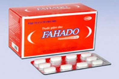 Thuốc hạ sốt Fahado có thể gây tác dụng phụ hoại tử da nhiễm độc