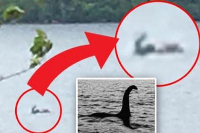 Xôn xao ảnh quái vật hồ Loch Ness ngoi hơn nửa người trên mặt nước?
