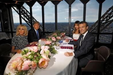 Tiệc tối tổng thống Pháp tiếp ông Trump và Phu nhân đặc biệt như thế nào?