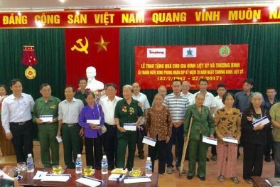 Tân Hiệp Phát thăm, tặng quà các gia đình liệt sỹ và thương binh tại Nghệ An, Hà Tĩnh