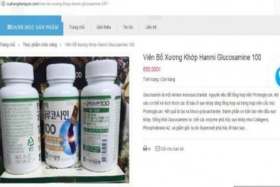 2 website vi phạm về quảng cáo viên bổ xương khớp Hanmi glucosamine