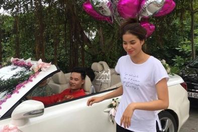 Hoa hậu Phạm Hương mặt mộc, dép lê tất bật chuẩn bị đám cưới