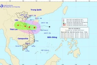 Dự báo bão Sonca sắp đổ bộ vào khu vực Nam Thanh Hóa và các tỉnh Nghệ An, Hà Tĩnh, Quảng Bình