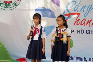 3 Học sinh lớp 5 chế tạo áo phao cứu sinh từ chai nhựa