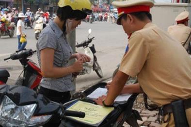 Chỉ cần bản sao chứng thực Giấy đăng ký xe khi tham gia giao thông