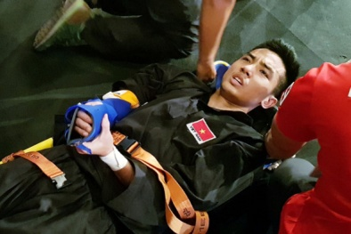 VĐV Pencak Silat dính chấn thương nặng tại SEA Games 29, nỗ lực giành HCV dang dở