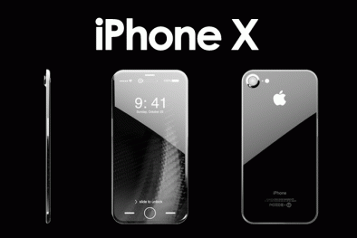 3 màu sắc của iPhone X sẽ cùng có màn hình kính mặt trước màu đen