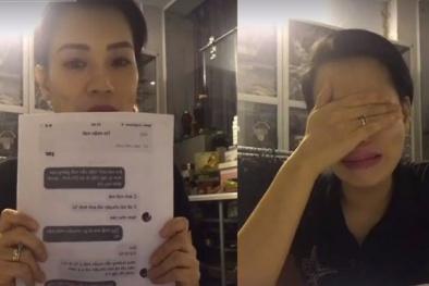 Vợ Xuân Bắc bị dồn nén, khóc nức nở khi livestream vì quá nhiều ấm ức