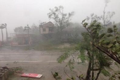 Bão số 10 chưa vào bờ, các tỉnh Trung Trung Bộ đã có mưa lớn