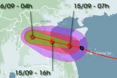 Trực tiếp: Bão số 10 đang vào vùng biển Hà Tĩnh - Quảng Trị