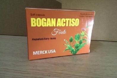 Lý do 3 lô sản phẩm thực phẩm bảo vệ sức khỏe Bogan actiso forte bị thu hồi