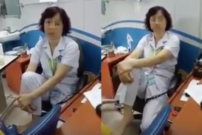 Tin mới nhất vụ nữ bác sĩ gác chân lên ghế đối thoại người nhà bệnh nhân