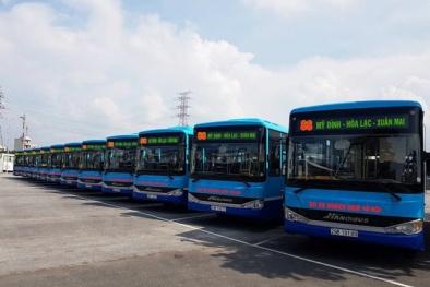 Hà Nội đưa 11 xe buýt chất lượng cao hoạt động tại tuyến Mỹ Đình-Hòa Lạc-Xuân Mai