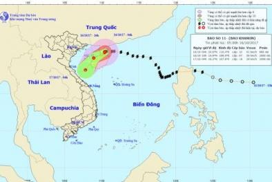 Bão số 11 suy yếu thành áp thấp nhiệt đới, miền Bắc chìm trong mưa lạnh