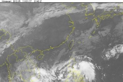 Áp thấp nhiệt đới 'kéo theo' bão số 12 tiến thẳng vào Nam Bộ