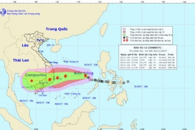 Ảnh hưởng của cơn bão số 12, nguy cơ mưa lớn trên diện rộng