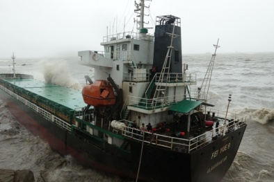 Bão số 12: Khẩn trương tìm kiếm 12 người nước ngoài mất tích do chìm tàu