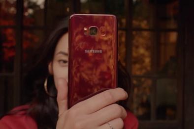 Khó cưỡng ngắm nhìn chiếc Galaxy S8 màu đỏ bóng chỉ bán ở Hàn Quốc