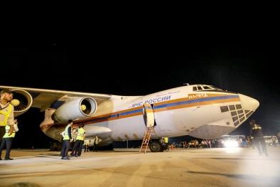 Phi cơ Nga mang hàng cứu trợ trị giá 5 triệu USD đã tới Việt Nam