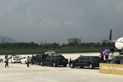 APEC 2017: Cận cảnh dàn siêu xe đón Tổng thống Hoa Kỳ Donald Trump tại sân bay Đà Nẵng