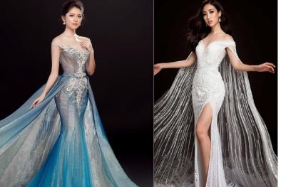'Đọ' nhan sắc Mỹ Linh, Thùy Dung trong trang phục dạ hội tại đấu trường quốc tế