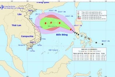 Tin mới nhất về cơn bão số 13 – Haikui