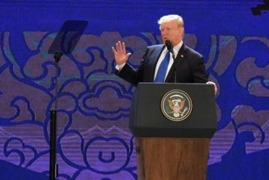 Ông Donald Trump phát biểu tại Hội nghị Thượng đỉnh Doanh nghiệp APEC