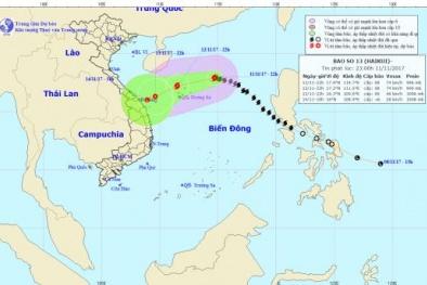 Dự báo thời tiết ngày 12/11: Bão số 13 suy yếu thành áp thấp nhiệt đới
