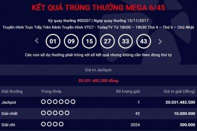 Kết quả xổ số Vietlott: Giải Jackpot trở về vạch xuất phát