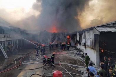 Thái Nguyên: Cháy lớn tại công ty may làm thiệt hại hàng chục tỷ đồng