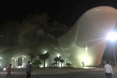 Quảng Ninh: Cháy cung triển lãm và quy hoạch do thi công bất cẩn
