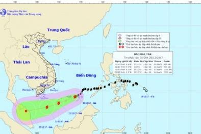 Tin tức thời tiết mới nhất: Cơn bão số 15 áp sát quần đảo Trường Sa