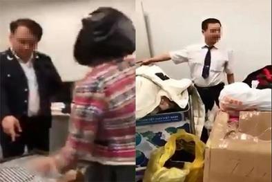 Đình chỉ hai nhân viên hải quan Nội Bài bị tố 'làm luật' gây bức xúc