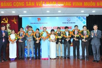 9 tài năng trẻ được trao Giải thưởng KHCN Thanh niên Quả Cầu Vàng 2017