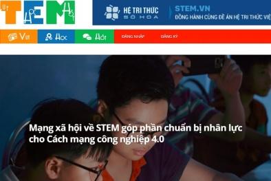 Mạng xã hội STEM góp phần chuẩn bị nhân lực cho cách mạng công nghiệp 4.0