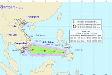 Áp thấp nhiệt đới sắp vào Biển Đông có thể mạnh lên thành bão