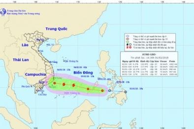 Tối nay áp thấp nhiệt đới sẽ vào Biển Đông, có khả năng mạnh lên thành bão