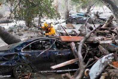 Mỹ: Gần 20 người chết trong vụ sạt lở đất ở California