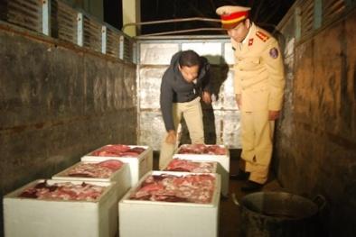 Phát hiện hàng trăm kg nội tạng động vật bốc mùi hôi thối ở Nghệ An