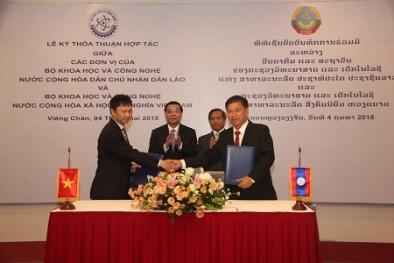 Việt Nam ký kết hợp tác với CHDCND Lào trong lĩnh vực khoa học công nghệ