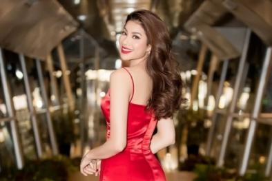 Phạm Hương diện đầm đỏ rực 'khoe' khéo thân hình chuẩn mực