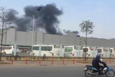 Thực hư cột khói đen bốc cao tại nhà máy Samsung Thái Nguyên