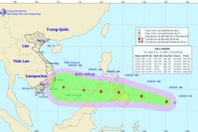 Tin bão mới nhất: Cận tết, bão Sanba đang tiến nhanh vế phía biển Đông