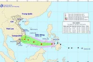 Tối 29 Tết bão Sanba vào biển Đông, diễn biến phức tạp, dự báo tiếp tục chuyển hướng