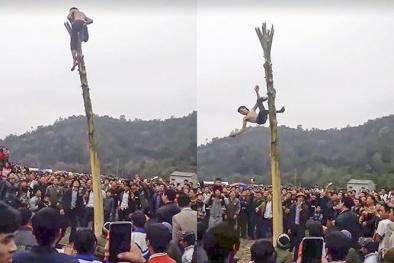 Trèo cây chuối trong lễ hội xuân, nam thanh niên bất ngờ rơi từ ngọn xuống bất tỉnh