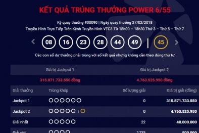 Xổ số Vietlott: Đã tìm ra chủ nhân trúng giải Jackpot hơn 315 tỷ ngày hôm qua?