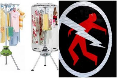 Cẩn trọng khi sử dụng máy sấy quần áo trong mùa nồm ẩm kẻo 'Thần Chết' gõ cửa