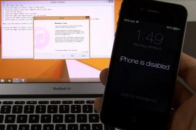 Điện thoại iPhone bị vô hiệu hóa vì nhập sai mật khẩu, khắc phục quá đơn giản