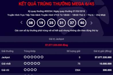Xổ số Vietlott: Jackpot lại 'nổ' thêm một người 'lĩnh' thưởng hơn 57 tỷ đồng ngày hôm qua?
